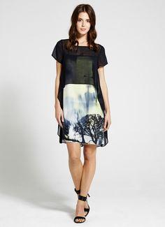 Francis Print Cape Top Dress | Dresses & Jumpsuits | MintVelvet