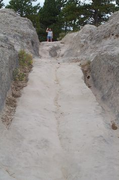Wagon ruts on the oregon Trail in Wyoming..been there and walked in the ruts! (Fort Laramie, Wyoming)