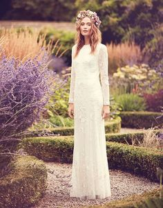 Subtle yet stylish, this long sleeved lace design from Nine by Savannah Miller at Debenhams | Wedding Dress | Elegant Wedding Dress | Wedding | Long Sleeved Dress