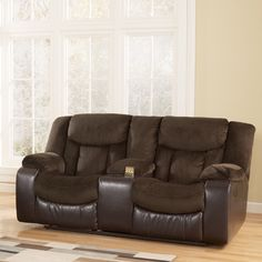 Signature Design by Ashley Bay Double Reclining Loveseat & Reviews   Wayfair