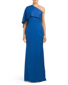 One Shoulder Long Gown - Formal - T.J.Maxx