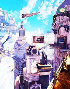 Columbia and all it's beauty (Bioshock Infinite)