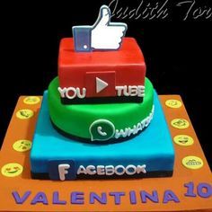 Torta Redes Sociales. Por: Judith Tortas.