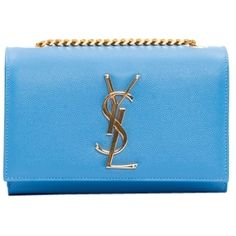 Pre-owned Saint Laurent Ysl Monogram Chain Wallet Clutch Light Blue... (6.100 RON) ❤ liked on Polyvore featuring bags, handbags, ysl, light blue, leather cross body purse, light blue handbag, leather cross body handbags, crossbody handbag and leather crossbody purses