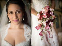 Beautiful bride  |  Brunette bride  |  Bridal bouquet |  Destin wedding  |  Lace wedding gown  |  Wedding veil  |  Aislinn Kate Photography