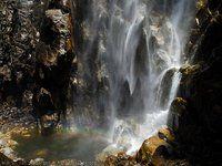 Bridal Veil Falls (616ft) & Yosemite Falls (2,424ft), Yosemite National Park, CA.