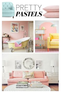 """Spring Trend: Pastel Decor"" by lenochka-li ❤ liked on Polyvore featuring interior, interiors, interior design, home, home decor, interior decorating, Kate Spade, Schlossberg and pasteldecor"