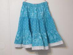 Handmade Ruffled Childrens Skirt Spring/Summer, size 10 by creationsbyjessi