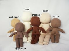 """Waldorf doll 8"""" body without hair - Make your own Waldorf doll - pure natural organic"""