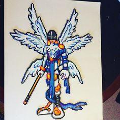 Angemon Digimon perler beads by  blue_jay_bomber