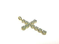 "Product Code: IIP0020 10K Yellow Gold Ankh Cross One Row Diamond 1.9""  Pendant Charm 1.0ct.  Gender: Unisex Metal: Yellow Gold Metal Purity: 10K Width: 1.1"" Length: 1.9"" Total Weight: 4.5 gms approx Stone Weight (ct.): 1.0  Sale Price: $699.99  #Jewelry #Gold #Diamond #Jesus #Cross #Pendant #10K #ItsIn"
