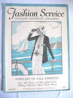 VINTAGE AUGUST 1929 FASHION SERVICE, WOMANS INSTITUTE MAGAZINE