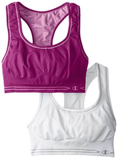 fd923584fa685 Champion Womens Reversible Seamless Racer Back Bra 2 Pack  WildberryLotusWhiteWhite Small    Read more at