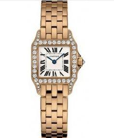 f547b6b378d Buy Cartier Watches Santos Demoiselle Rose Gold Diamonds Cartier Ladies  Watch WF9008Z8 Online http