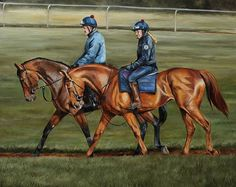 I'm thinking these guys are done.. I might have another look after putting it away for a bit. Fresh eyes are a good thing sometimes.  #equestrians #equineart #thoroughbred #newmarket #racehorse #horseracing #fineart #forsale #equestrians #oilpaintersofinstagram #artist #oilpainters #racing #workriders #landscape #horsepainting #instaartist #horses #painter #professionalart #artiststoexpress #artofinstagram #horsesintraining #suffolk #countryside #landscape #Autumn #jockey #jockeyclub