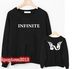 INFINITE KPOP  BACK  Same Logo Long Sleeve T shirt Infinite Unisex Sweater New