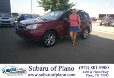https://flic.kr/p/KyAzPL | Happy Anniversary to Charlotte on your #Subaru #Forester from Vickie Belt at Subaru of Plano! |…