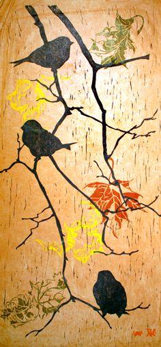 Birds and Branches by Rachel Ellis Kaufman available at trurofineartstudio.com