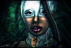 Acapella by Briana Monet Walker http://madelftk.deviantart.com/ http://inkandgrease.tumblr.com/