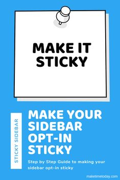 How to make any sidebar widget sticky in Wordpress. Make the most of your sidebar optin by getting it in front of users while they scroll your content. Way Down, Email List, Wordpress Plugins, Step Guide, Email Marketing, Online Business, About Me Blog, How To Get, Content