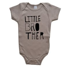 Little Brother Baby One Piece Bodysuit Baby by VicariousClothing