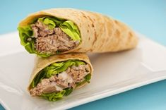 Try this Skinny Tuna Salad Wrap - light, filling and delicious! Click for the recipe.