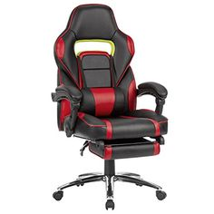 LANGRIA Ergonomic High-Back Faux Leather Racing Style Reclining Computer Gaming Executive Office Chair with Padded Footrest Blue(China) Office Gaming Chair, High Back Office Chair, Executive Office Chairs, Swivel Office Chair, Gaming Computer, Desk Chair, Computer Rack, Reclining Office Chair, Adjustable Office Chair