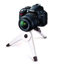 DURAGADGET Collapsible Comapct Mini SLR Camera Tripod For Nikon D5000, D3100