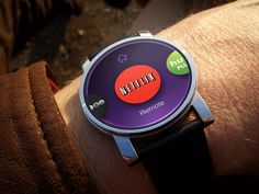 Really good use of the viewport here. Decluttered and focused on critical tasks.  Roku Android Wear / Stefan Poulos