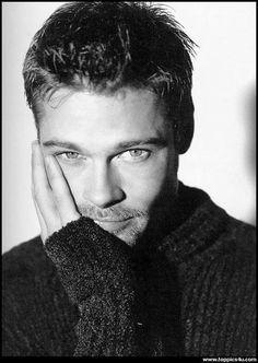 Brad Pitt. Have Mercy! Male actor, hottie, celeb, portrait, b/w
