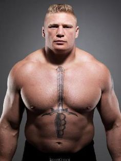 Brock Lesnar represents one the millers physical traits because he shows strength