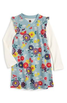 25d970788 Tea Collection Yukar Wrap Neck Dress (Baby Girls) available at #Nordstrom  Baby Girl