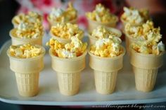 Kids love the olympic torch made of popcorn and an ice cream cone! This will be great for the Winter Olympics approaching in 2014!