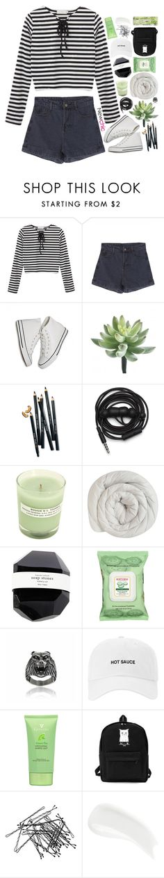 """""""NewChic 04"""" by blonde-scorpio-xo ❤ liked on Polyvore featuring Bobbi Brown Cosmetics, Urbanears, A.P.C., Burt's Bees, H&M and James Read"""