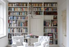 A bookcase wall... a must have when I grow up. Love this one.
