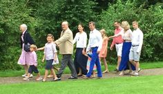 The Danish Royal Family attends the annual Summer photocall for the Royal Danish family at Grasten Palace on July 25, 2015 in Grasten, Denmark