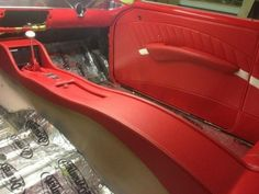 Custom Car Interior, Car Interior Design, Truck Interior, Interior Ideas, Car Interior Upholstery, Automotive Upholstery, Custom Center Console, Custom Dashboard, Custom Consoles