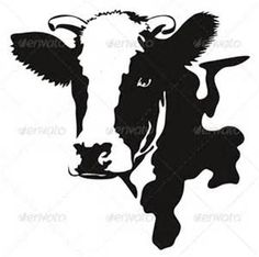 Buy Vector Illustration of a Cow Head by ultrapro on GraphicRiver. Vector illustration of a cow black and white Silhouette Cameo, Silhouette Design, Silhouette Studio, Paper Cutting, Cow Drawing, Plasma Cutter Art, Cow Head, Black And White Posters, Wood Burning Patterns