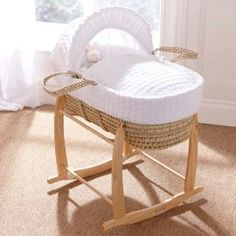 Buy Clair de Lune Palm Moses Basket (Marshmallow White) from our Moses Baskets range - Tesco.com