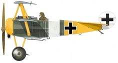 Jasta 27 ~ Fokker Dr.I ~ of an unknown pilot at Halluin-Ost in May, 1918.