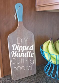 DIY Dipped Handle Cutting Board, bread board, cheese board by Teal & Lime