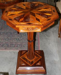 Table, Classicism, walnut, inlay, 1790 - 1800, 79 cm x 56 cm x 56 cm (h x w x d), www.stodola.cz Bedside Tables, Antique Furniture, Coffee Tables, Antiques, Classic, House, Home Decor, Nightstands And Bedside Tables, Antiquities