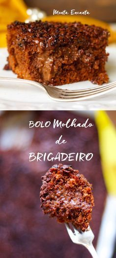 Bolo de Brigadeiro Molhado, a massa é fofíssima feita com iogurte e umedecida por uma caldinha de brigadeiro mole com creme de leite, servido no tabuleiro.