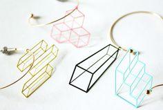 lilldesignlab : 立体図形 Hoop Pierce | Sumally
