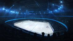 Ice hockey stadium with spotlights and crowd of fans, corner view, professional ice hockey sport render - Buy this stock illustration and explore similar illustrations at Adobe Stock Ice Hockey, Explore, Illustration, Sports, Hs Sports, Illustrations, Sport, Hockey Puck, Exploring