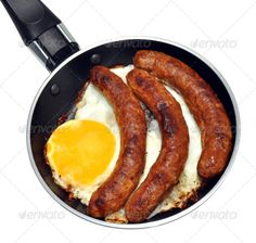 Realistic Graphic DOWNLOAD (.ai, .psd) :: http://jquery.re/pinterest-itmid-1007017854i.html ... Frying Pan With Egg And Sausages ...  background, breakfast, chicken, cook, cooking, diet, egg, food, fried, frying, frying pan, hen, isolated, meat, morning, non stick, nutrition, pan, pork, sausages, unhealthy, white, yellow, yolk  ... Realistic Photo Graphic Print Obejct Business Web Elements Illustration Design Templates ... DOWNLOAD :: http://jquery.re/pinterest-itmid-1007017854i.html