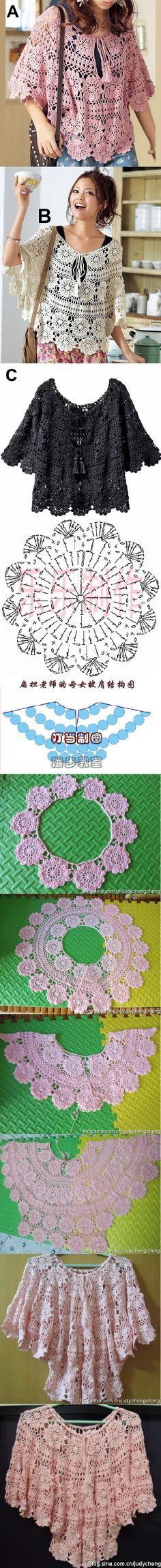 crochet tunic/poncho! sweet and beautiful!!