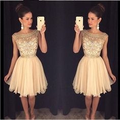 Cute Homecoming Dresses,Sparkly Beaded Homecoming HOCO Dresses,Short Prom sold by lasedress. Shop more products from lasedress on Storenvy, the home of independent small businesses all over the world. 2016 Homecoming Dresses, Champagne Homecoming Dresses, Cute Prom Dresses, Elegant Prom Dresses, Dresses Short, Dresses For Teens, Pretty Dresses, Beautiful Dresses, Dresses 2016