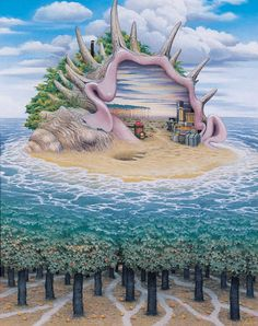 Two worlds and one more - Jacek Yerka