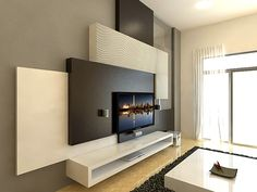 Living Room Tv Wall - Living Room Tv Wall , Living Room Wall Unit Designs for Living Room 20 the Most Amazing Tv Wand Modern, Living Room Modern, Living Room Designs, Cozy Living, Living Rooms, Tv Wand Design, Tv Wanddekor, Tv Feature Wall, Modern Tv Wall Units